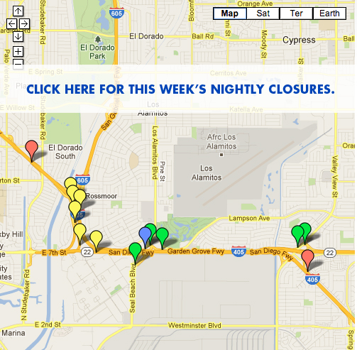 Weekly Closures Live Traffic Feed: Orange County Traffic Map At Slyspyder.com