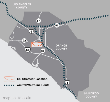 OC Street car map