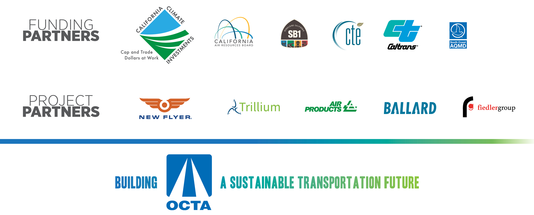 Transportation partners logos bar