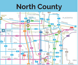 north county map