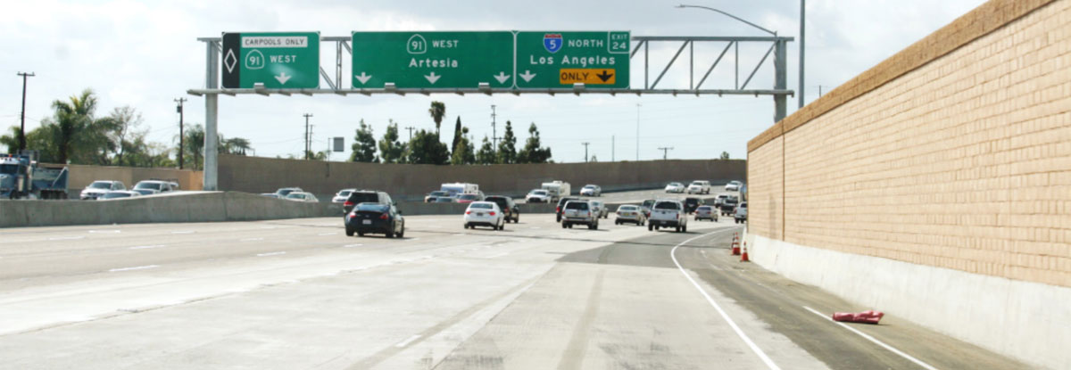 SR-91 Westbound Lane Addition Project header